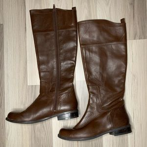 Nine West Brown Cromie Riding Boots